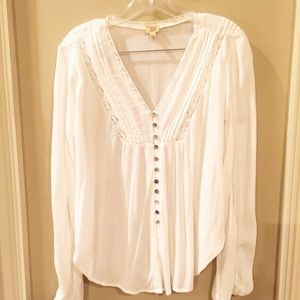 Cute button up top  - off white, not cream